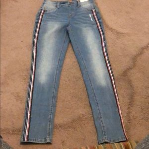 NWT JUSTICE Blue Jean Jegging Mid Rise, sz 12